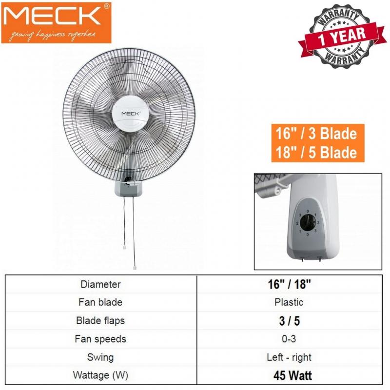 """Meck Wall Fan 16"""" 3 Blade / 18"""" 5 Blade - MWF-16 / MWF-18"""