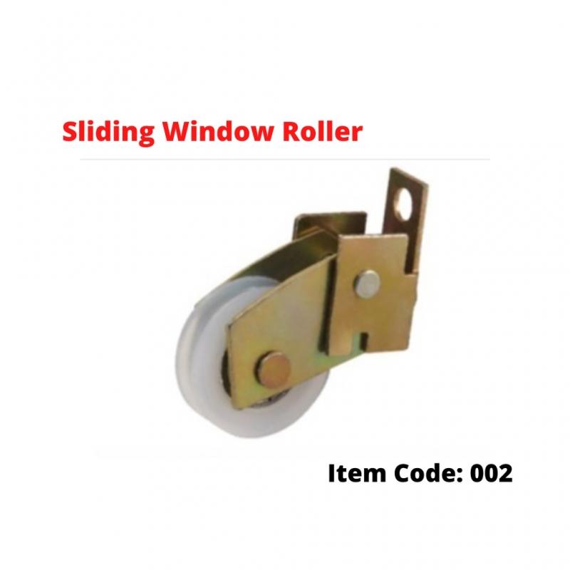 002 Sliding Window Roller Patio Aluminium Slide Window Roda Tingkap Kaca