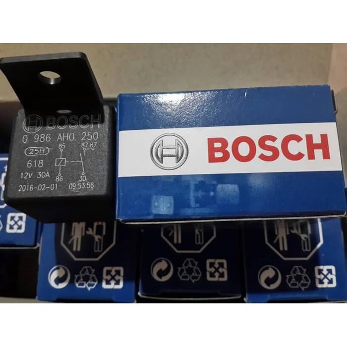 Genuine BOSCH 5 Pin 12V 30A (87) Mini Relay 0 986 AH0 250 (Made In Taiwan)