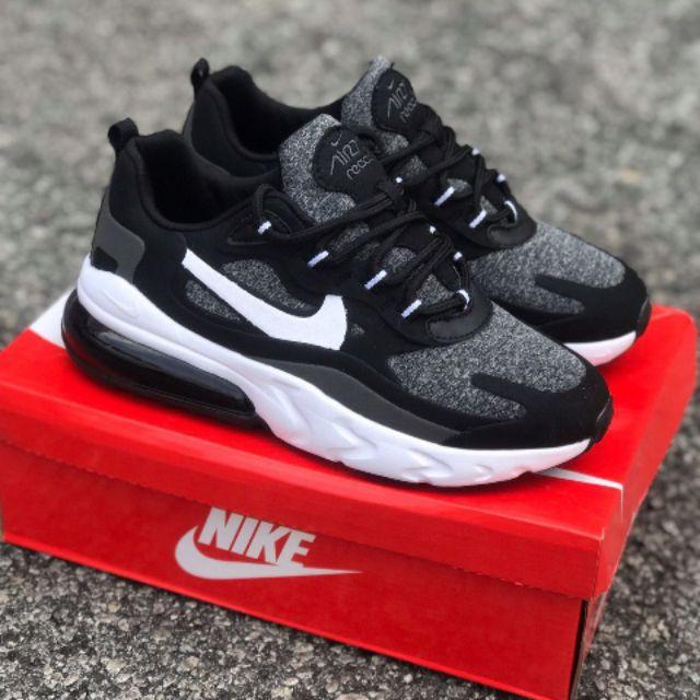 Nike Air Max 270 React Black Grey Running Shoes