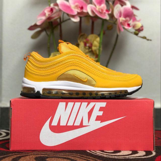 Nike air max 97 unisex Running Sports Shoes Yellow Premium