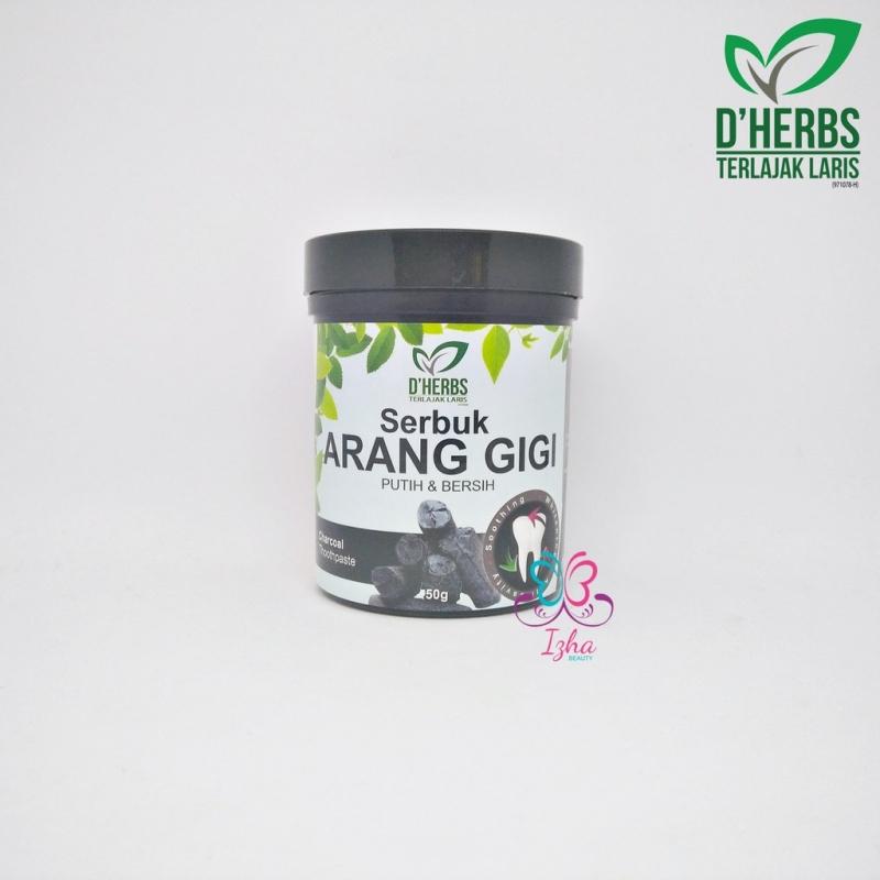 [D\'HERBS] Serbuk Arang Gigi - 50g