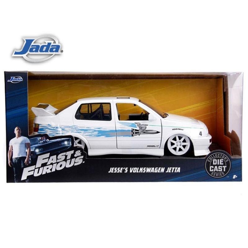 JADA 1:24 FAST & FURIOUS METAL DIE CAST JESSE\'S VOLKSWAGEN JETTA (WHITE) MODEL COLLECTION 99591