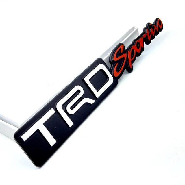 Toyota TRD Sportivo Emblem Logo TrdSportivo Badge Wording Double Tape Plastic