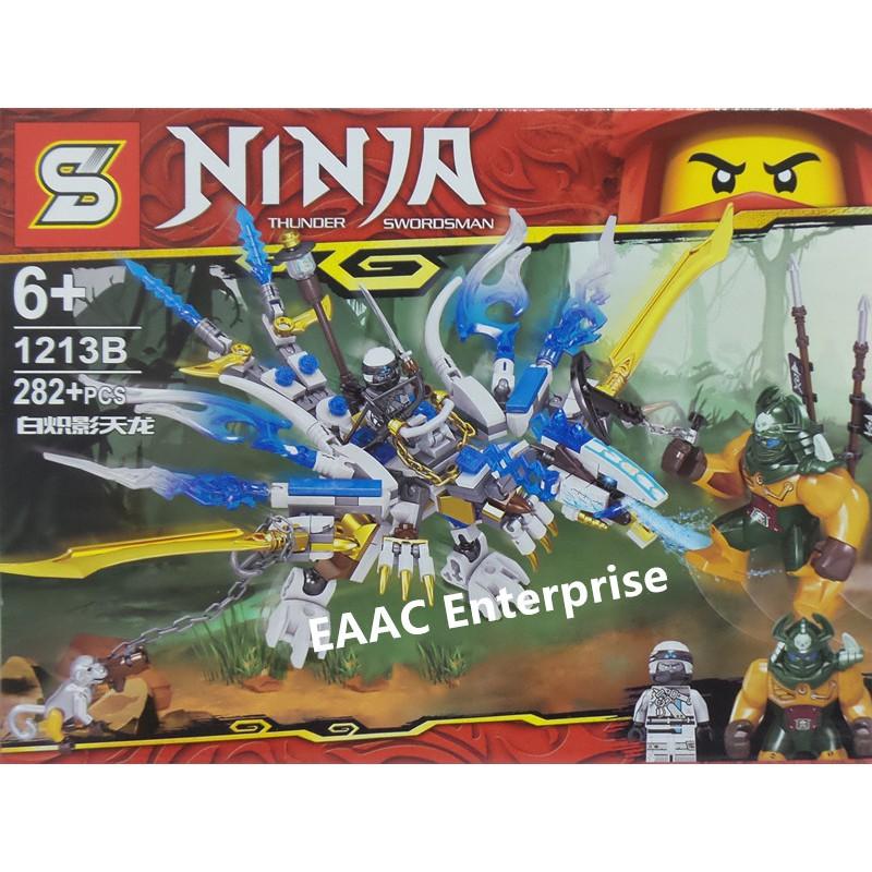 Ninja 1213B Flying Dinosaur Building Block Bricks 282+pcs