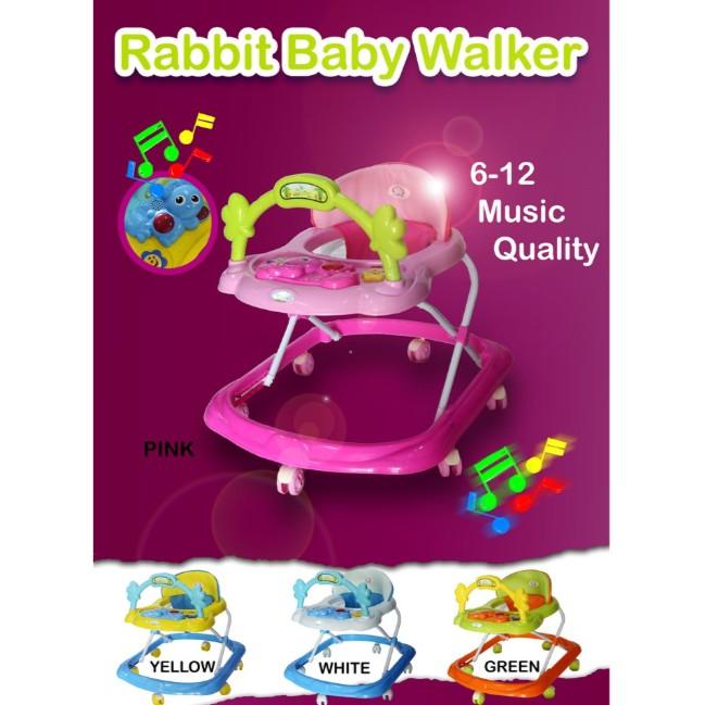 🔥M\'SIA STOCK] RABBIT MUSICAL BABY WALKER- TEMPAT DUDUK BAYI MURAH