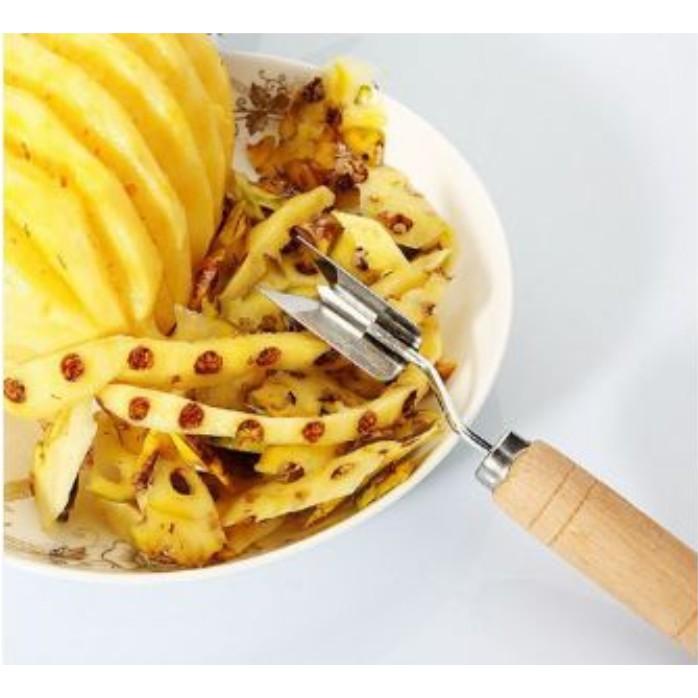 READY STOCK SHP] PISAU PEMOTONG MATA NENAS / 2 Blades Silver Tone Pineapple Cutter Slicers