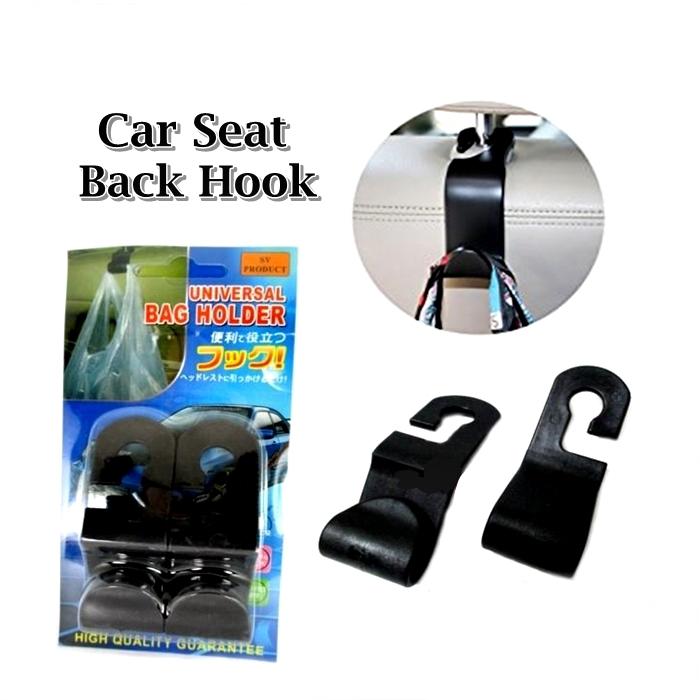 M\'SIA STOCK] 2PCS/SET PENGANTUNG BARANG KERETA Car Seat Back Hook