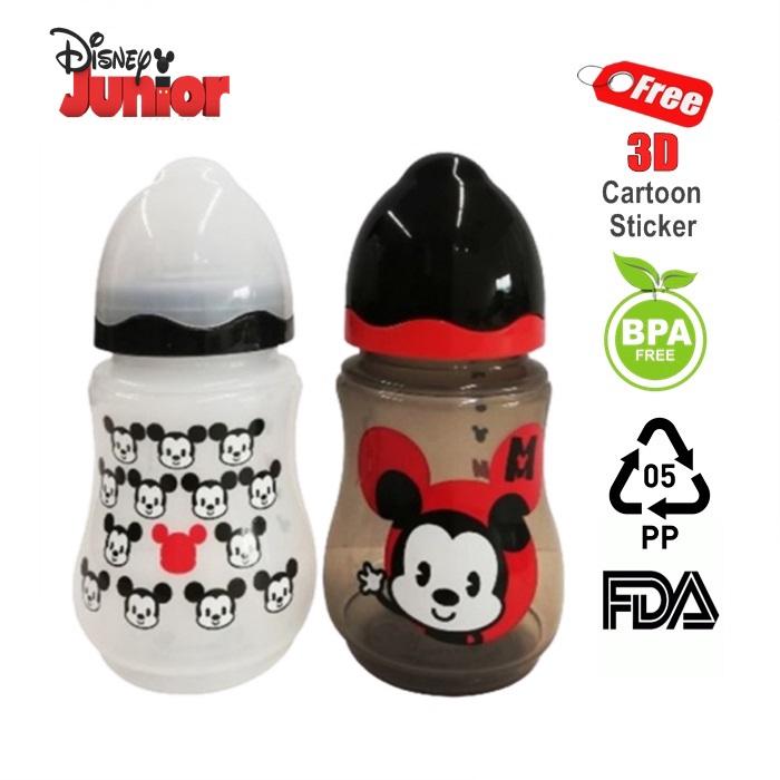 MALAYSIA: 2 BOTOL SUSU BAYI Disney Baby Mickey Limited Edition 9oz Wide Neck Milk Bottle [Twin Pack]