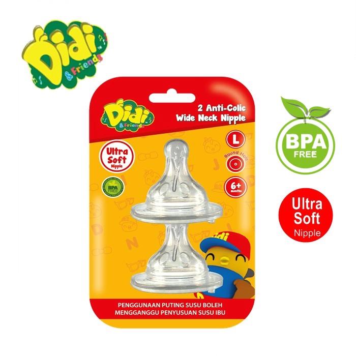 Didi & Friends 2 Anti-Colic Wide Neck Nipple (BPA-Free)