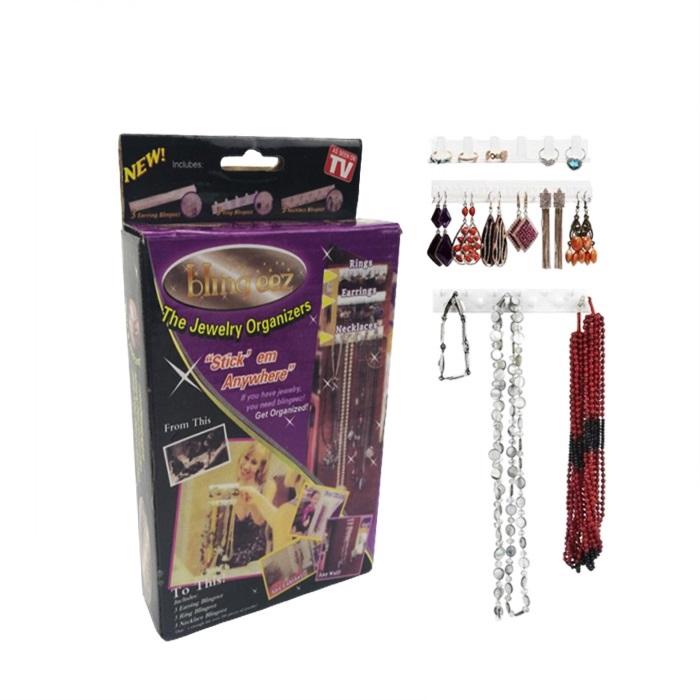 MALAYSIA: 9pcS/SET PENGANTUNG BARANG KEMAS / Jewelry Earring Organizer Hanging Holder