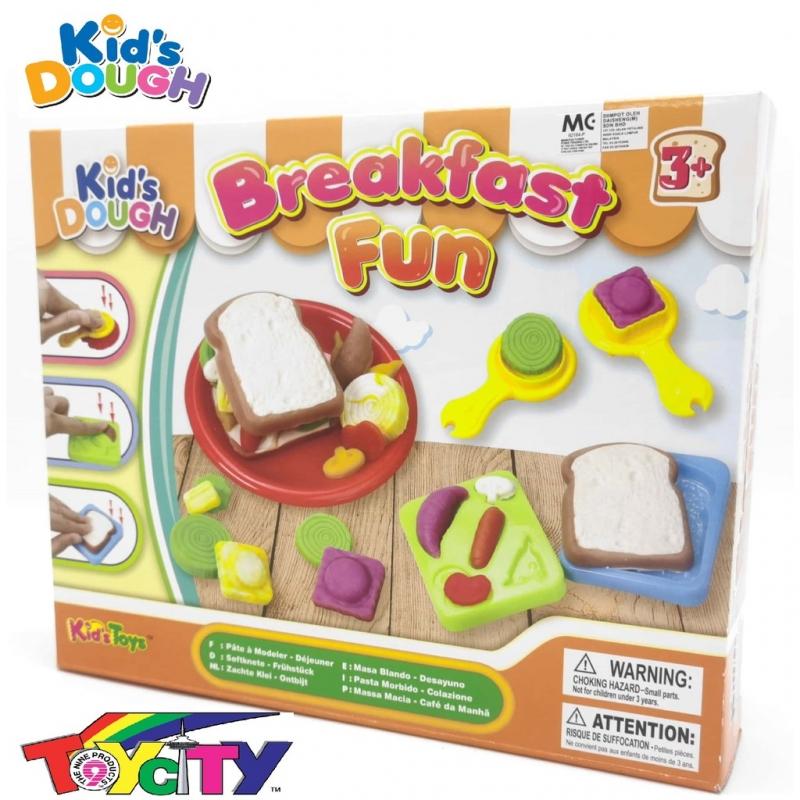 KID\'S TOYS FUN PLAY KIDS DOUGH BREAKFAST FUN PLAYSET FOR KIDS