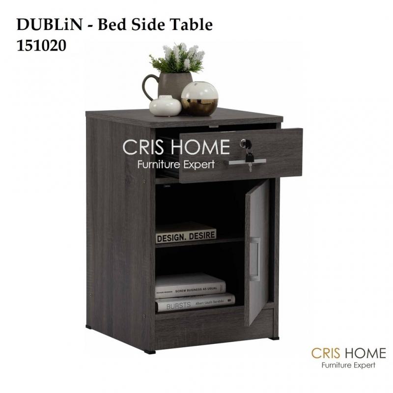 CrisHome - DUBLiN BedSide Table / Meja sisi Katil ( Free Shipping to WM )