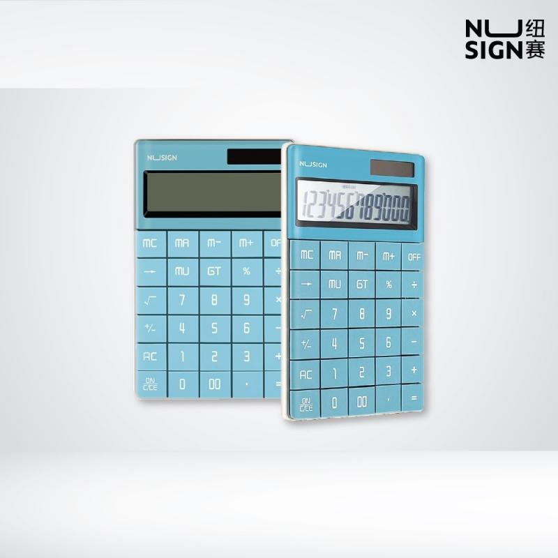 NUSIGN Lagoon Blue Desk 12-digits Calculator NS041