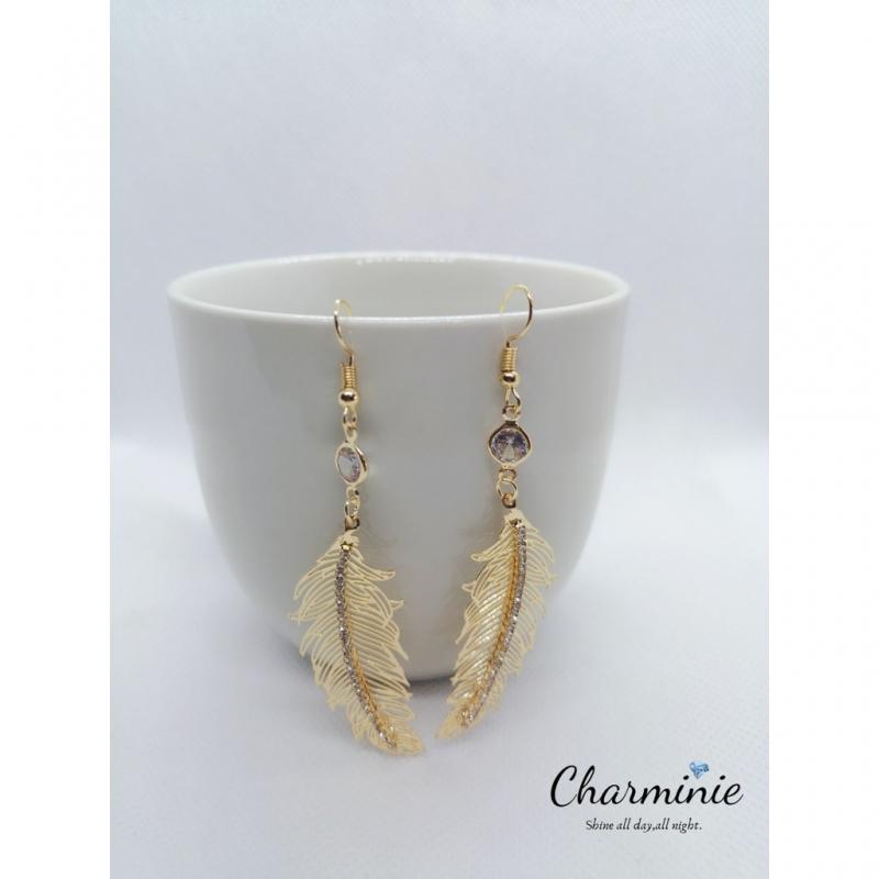 Fashionable Fur drop earrings-Charminie (READY STOCK)