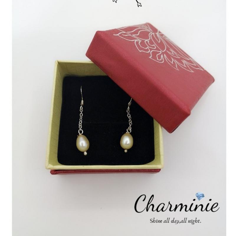 Pure Sliver 925 Pearl Earrings-Charminie