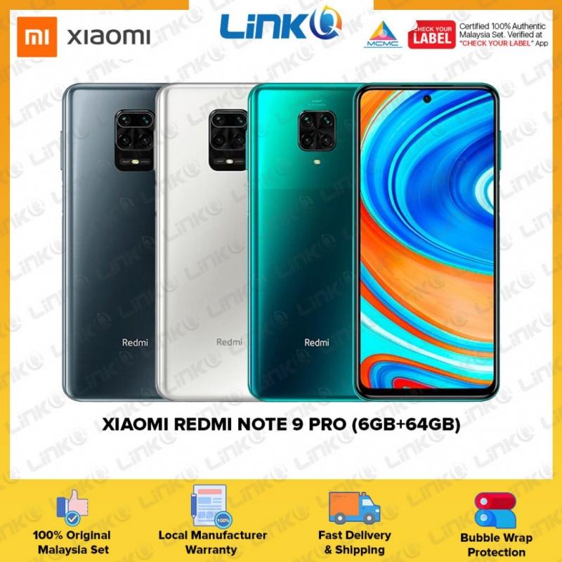 Xiaomi Redmi Note 9 Pro (6GB RAM + 64GB ROM) Smartphone - Original 1 Year Warranty by Xiaomi Malaysia (MY SET)