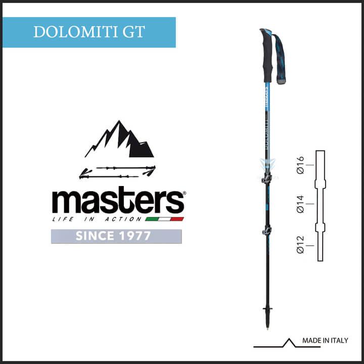 【義大利 masters】Dolomiti/GT輕量卡魯快拆 1入 - 黑藍