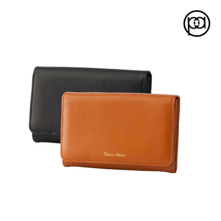 (Premium Authentic)[PA leather boutique] Accordion long clip (six colors)