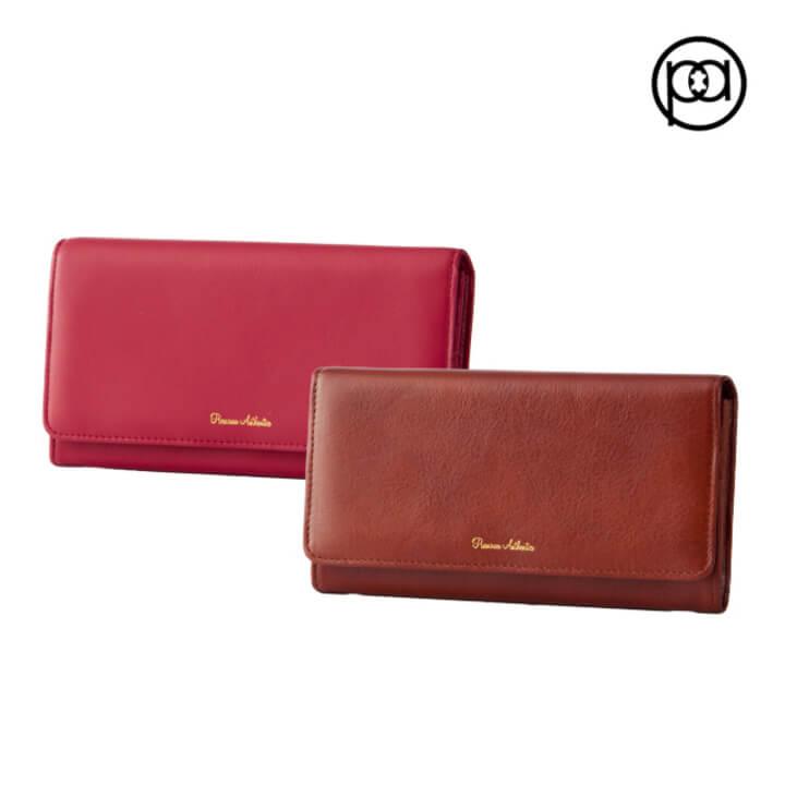 (Premium Authentic)[PA leather boutique] accordion long clip (five colors)