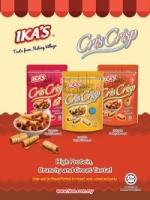 IKA'S Fish Snack Crunchy Fish Rolls 55g 3pkt