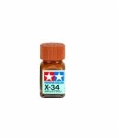 Tamiya Color Enamel Paint X-34 Metallic Brown (10ml)