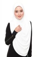 TUDUNG SAFWA EXCLUSIVE XL WHITE CREAM