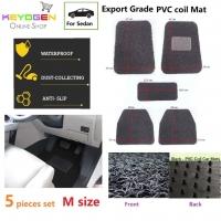 Export Grade 5pcs univeral coil car mat - M size - waterproof antislip