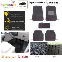 Export Grade 5pcs univeral coil car mat - L size - waterproof antislip