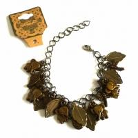 Handmade Vintage New Style Bronze Metal Dangle Bracelet - Leaves, Elephants & more