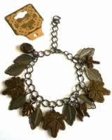 Handmade Vintage New Style Bronze Metal Dangle Bracelet - Leaves, Dragonfly, Butterfly & more