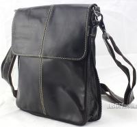 Ironroom Men's Expanable Leather Messenger Bag LJC17005BG