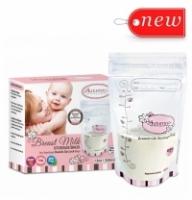 BUY 3 Autumnz - Double ZipLock Breastmilk Storage Bag 12 oz (25 bags per box) and Get Free 1 Disney Cuties Wet Wipes 30's