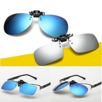 Polarized UV400 Clip On Flip Up Aviator Sunglasses