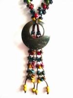 Ethnic Handmade Coconut Shell Long Fashion Necklace