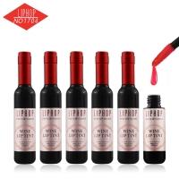 Liphop red-wine lip gloss batom lipstick 红酒口红 套装 (一盒6支6色)