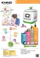 KHIND BP12 BABY PORRIDGE COOKER - 1 year warranty - 4 cooking pattern