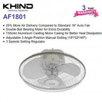 Khind 18'' Auto Fan AF1801 (White) - 3 Years + 1 Year General Warranty