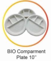 Compartment Plates 50 pcs Biodegradable 10 inches - Bio Compartment Plate