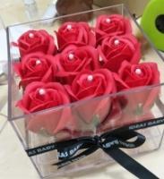 Valentine Gift Acrylic Soap Flower Box