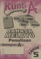Cemerlang Kunci A Bahasa Melayu Penulisan Bahagian A Tahun 5