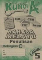 Cemerlang Kunci A Bahasa Melayu Penulisan Bahagian C Tahun 5