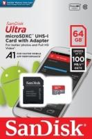 SanDisk Ultra 64GB MicroSDXC UHS-I Card - SDSQUAR-064G