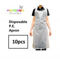 10pcs keyogen disposable plastic p.e. apron