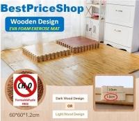 Wood Design Non Toxin Eva Soft Foam Exercise Gym Yoga Floor Kids Mat