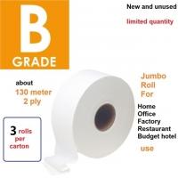 1 box 3 rolls B grade jumbo roll Tissue toilet bathroom paper