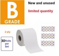 1 pack 30 roll B grade Tissue toilet bathroom paper roll