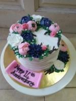 A Flower Wreath Cake (1)