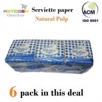 Keyogen 6 pack Natural Pulp Napkin tissue serviette