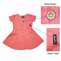 Short Sleeve Waffle Texture Woven Dress